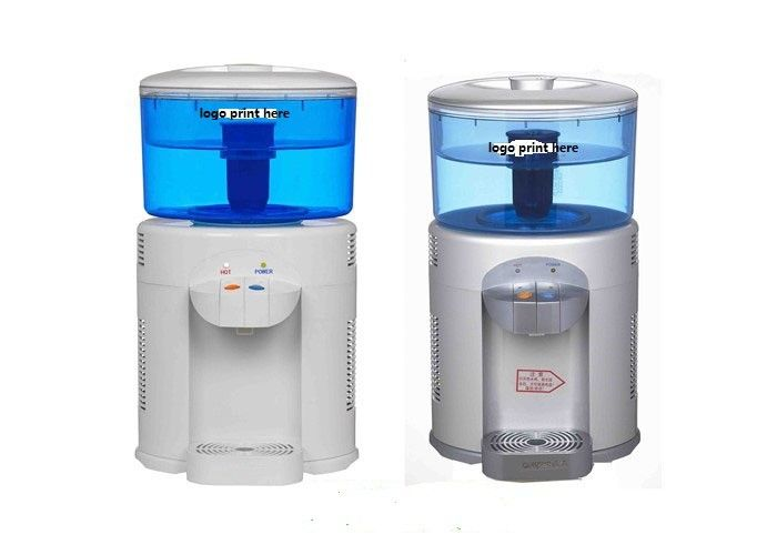 Silver And White Color Mini Water Cooler Dispenser 5L Desktop Type With Filtration